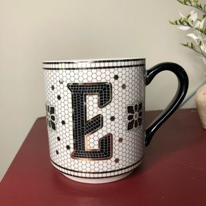 "Anthropologie ""E"" Coffee Mug"